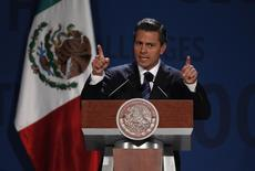 Mexico's President Enrique Pena Nieto addresses the audience during The Economist's Mexico Summit 2013 in Mexico City November 7, 2013. REUTERS/Tomas Bravo