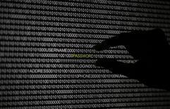 """Силуэт руки на фоне экрана компьютера в Берлине 21 мая 2013 года. Китайские хакеры взломали компьютеры пяти европейских внешнеполитических ведомств до саммита """"Большой двадцатки"""", проходившего в сентябре в Санкт-Петербурге. REUTERS/Pawel Kopczynski"""