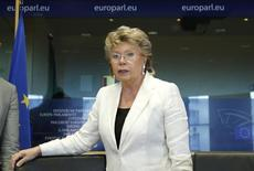 European Union Justice Commissioner Viviane Reding arrives to address the European Parliament's Committee on civil liberties, justice and home affairs in Brussels June 19, 2013. REUTERS/Francois Lenoir
