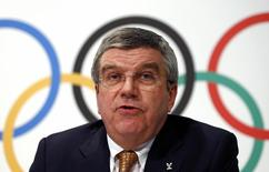 International Olympic Committee (IOC) President Thomas Bach attends a news conference at the IOC headquarters in Lausanne December 10, 2013. REUTERS/Denis Balibouse