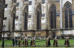 Judges from the Supreme Court process to Westminster Abbey for a service to mark the beginning of the legal year, London October 1, 2012. REUTERS/Luke MacGregor