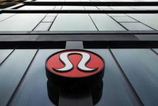 A Lululemon Athletica logo is seen outside one of the company's stores in New York, March 19, 2013. REUTERS/Lucas Jackson