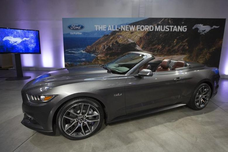 Ford Motor Co. unveils its all new 2015 Ford Mustang GT at an event in New York December 5, 2013. REUTERS/Brendan McDermid