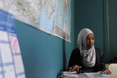 A young woman from Somalia attends a lesson to learn French given by humanitarian association France Terre d'Asile in Angers, western France, November 9, 2011. REUTERS/Stephane Mahe