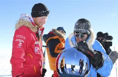 Britain's Prince Harry is pictured in this handout photo arriving at the South Pole December 13, 2013. REUTERS/Walking With The Wounded/Handout via Reuters