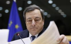 European Central Bank (ECB) President Mario Draghi testifies before the European Parliament's Economic and Monetary Affairs Committee in Brussels December 16, 2013. REUTERS/Francois Lenoir