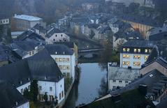 The Petrusse river is seen in the general view of the city of Luxembourg in this November 20, 2012 file photo. REUTERS/Francois Lenoir/Files