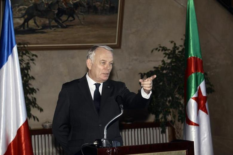 France's Prime Minister Jean-Marc Ayrault speaks during a news conference at the Government palace in Algiers December 16, 2013. REUTERS/Ramzi Boudina