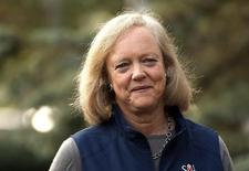 Meg Whitman, CEO of Hewlett-Packard, arrives for the first session of annual Allen and Co. conference at the Sun Valley, Idaho Resort July 10, 2013. REUTERS/Rick Wilking