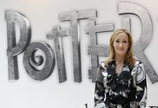British author JK Rowling, creator of the Harry Potter series of books, poses during the launch of new online website Pottermore in London June 23, 2011. REUTERS/Suzanne Plunkett