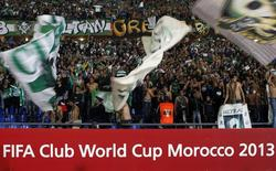 Raja Casablanca's fans celebrate winning their FIFA Club World Cup semi-final soccer match against Atletico Mineiro at Marrakech stadium December 18, 2013. REUTERS/Amr Abdallah Dalsh