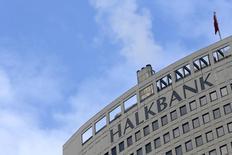 Turkey's Halkbank headquarters are seen in Ankara December 17, 2013. REUTERS/Umit Bektas