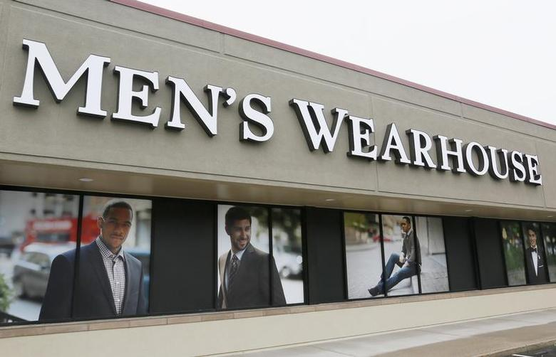 The Men's Wearhouse sign is seen outside its store in Westminster, Colorado September 11, 2013. REUTERS/Rick Wilking