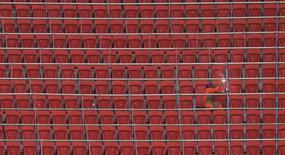 A worker welds handrails inside the Mane Garrincha National Stadium in Brasilia June 6, 2013. REUTERS/Ueslei Marcelino