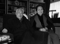 Former reformist Communist Party general secretary Zhao Ziyang (L) and his wife Liang Boqi pose for photos at the study room of his home in central Beijing in this undated photo taken in 1993. REUTERS/New Century Media and Consulting Co., Ltd.