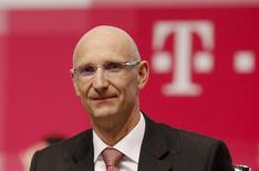 Then Deutsche Telekom AG member of the board of management Timotheus Hoettges attends the company's general shareholders meeting in Cologne in this May 16, 2013 file photo. REUTERS/Ina Fassbender/Files