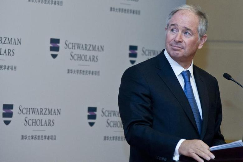 Stephen Schwarzman, chairman and CEO of the Blackstone Group, gives a speech at a news conference for the launch of the Schwarzman Scholars at the Great Hall of the People in Beijing, April 21, 2013. REUTERS/China Daily