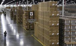 Boxed appliances are ready to be shipped out at the Whirlpool manufacturing plant in Cleveland, Tennessee August 21, 2013. REUTERS/Chris Berry