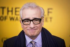 """Guiones de dos películas sobre la corrupción y la codicia en Estados Unidos -""""American Hustle"""" y """"The Wolf of Wall Street""""- figuraron entre los nominados del viernes para los premios del Sindicato de Guionistas. En la foto de archivo, el director Martin Scorsese en el estreno de """"The Wolf of Wall Street"""" en Nueva York. Dic 17, 2013. REUTERS/Lucas Jackson"""
