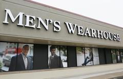 The Men's Wearhouse sign is seen outside its store in Westminster, Colorado September 11, 2013. Men's Wearhouse Inc is due to release their Q2 2013 earnings. REUTERS/Rick Wilking
