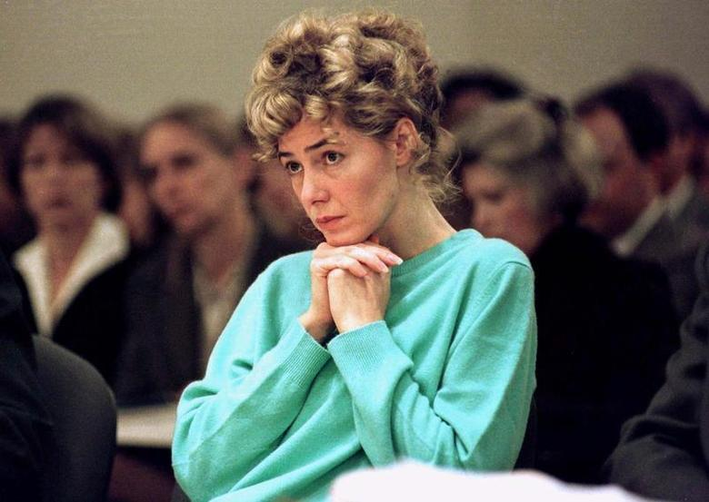 Mary Kay LeTourneau, a former teacher imprisoned for having sexual relations with a 14-year-old boy, is shown sitting in court at the Regional Justice Center in Kent, Washington, on November 14, 1997, before being sentenced for the crime.