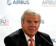 L'avionneur européen Airbus, filiale d'Airbus Group, a annoncé la nomination d'Allan McArtor à la tête de ses activités en Amérique du Nord. /Photo prise le 2 juillet 2012/REUTERS/Jonathan Bachman