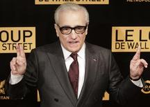 "Director Martin Scorsese reacts during a photocall for his film ""The Wolf of Wall Street"" in Paris, December 9, 2013. REUTERS/Jacky Naegelen"