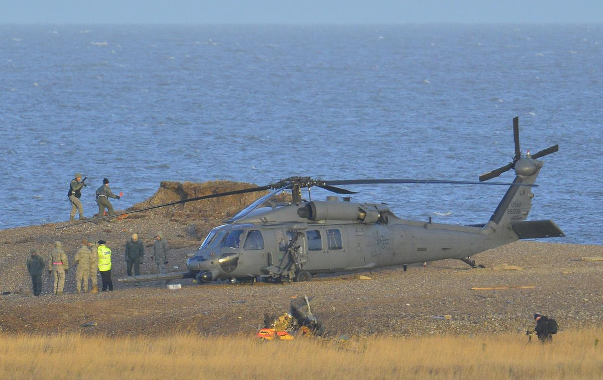 U S  military helicopter crashes in Britain, munitions