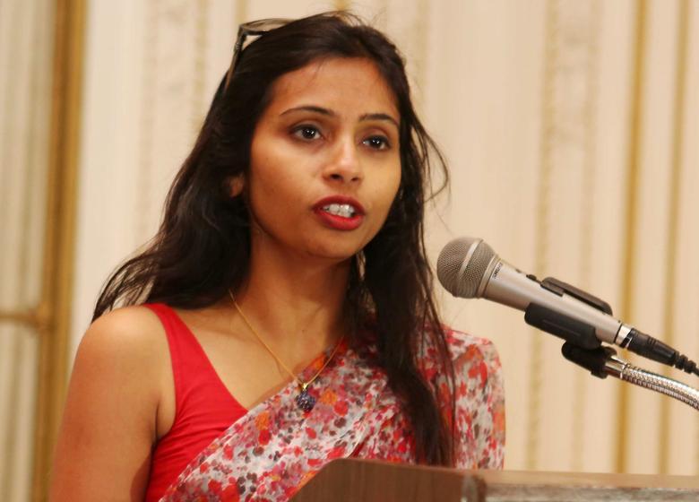 India's Deputy Consul General in New York, Devyani Khobragade, attends a Rutgers University event at India's Consulate General in New York, June 19, 2013. REUTERS/Mohammed Jaffer/SnapsIndia