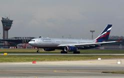An Aeroflot Airbus A330 plane heading to the Cuban capital Havana takes off from Moscow's Sheremetyevo airport July 6, 2013.REUTERS/Maxim Shemetov