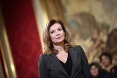 Valerie Trierweiler, companion of French President Francois Hollande, attends a ceremony for recipents of the Family Medal award at the Elysee Palace in Paris November 30, 2013. REUTERS/Lionel Bonaventure/Pool