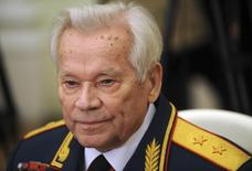 Mikhail Kalashnikov, the Russian inventor of the globally popular AK-47 assault rifle, attends festivities to celebrate his 90th birthday at the Kremlin in Moscow, November 10, 2009. REUTERS/Natalia Kolesnikova/Pool