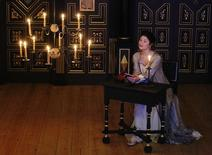 """REFILE - CORRECTING PLAYWRIGHT Actress Gemma Arterton performs as the Duchess of Malfi in John Webster's """"The Duchess of Malfi"""" at the Sam Wanamaker Playhouse at the Globe Theatre in London January 14, 2014. REUTERS/Luke MacGregor"""