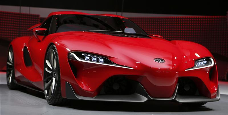 View Of The Toyota Ft 1 Concept Car S Grille Area As It Is Unveiled During Press Preview Day North American International Auto Show In Detroit