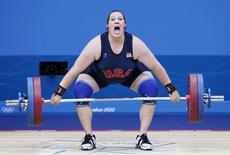 Sarah Robles of the U.S. competes in the women's +75kg group A weightlifting competition at the ExCel venue during the London 2012 Olympic Games August 5, 2012. REUTERS/Damir Sagolj