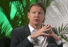Microsoft songe à Hans Vestberg, le directeur général d'Ericsson, pour succéder à son propre directeur général Steve Ballmer, a rapporté Bloomberg mercredi, citant des sources proches du dossier. /Photo prise le 7 janvier 2014/REUTERS/Steve Marcus
