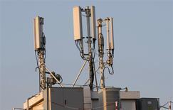 Selon la ministre à l'Economie numérique, Fleur Pellerin, le gouvernement exclut pour l'instant une fusion entre deux opérateurs télécoms. /Photo d'archives/REUTERS/Eric Gaillard