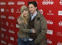 """Actors Kate Hudson (L) and Zach Braff attend the premiere of the film """"Wish I Was Here"""" at the Sundance Film Festival in Park City, Utah, January 18, 2014. REUTERS/Jim Urquhart"""
