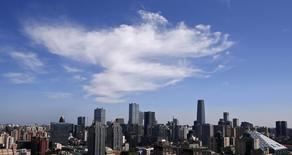 A general view of the central business district during autumn in Beijing September 14, 2013. REUTERS/Petar Kujundzic