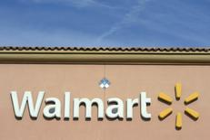 The Walmart logo is pictured at its store in the Porter Ranch section of Los Angeles November 26, 2013. REUTERS/Kevork Djansezian