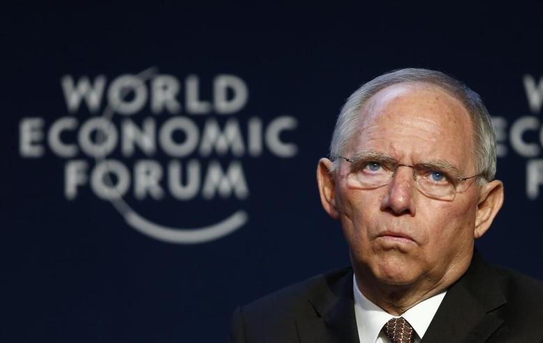 German Finance Minister Wolfgang Schaeuble attends a session at the annual meeting of the World Economic Forum (WEF) in Davos January 24, 2014. REUTERS/Denis Balibouse