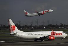 La compagnie aérienne indonésienne Lion Air a commandé des moteurs 56-5B destinés à équiper 60 Airbus, à CFM International, coentreprise entre General Electric et la Snecma, une filiale de Safran. /Photo d'archives/REUTERS/Beawiharta