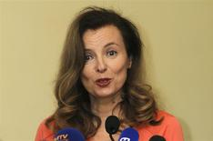 Valerie Trierweiler, former companion of French President Francois Hollande, speaks during a news conference organised by Fight Against Hunger in Mumbai January 27, 2014. REUTERS/Danish Siddiqui