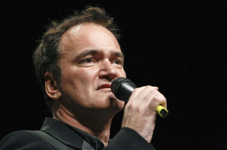 U.S. director Quentin Tarantino speaks before receiving the Prix Lumiere during a ceremony at the Lumiere 2013 Grand Lyon Film Festival in Lyon October 18, 2013. REUTERS/Robert Pratta