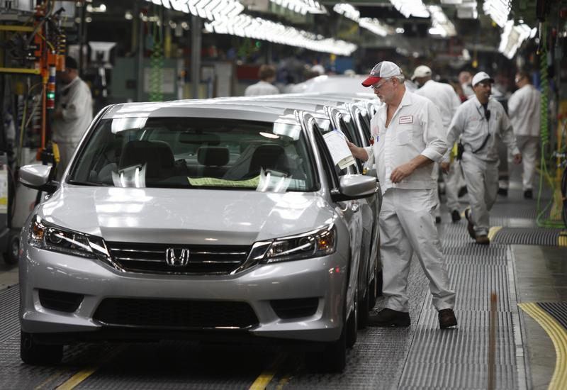 Clif Small Is Seen Getting A 2013 Accord Ready To Come Off The Line During Tour Of Honda Automobile Plant In Marysville Ohio October 11 2012