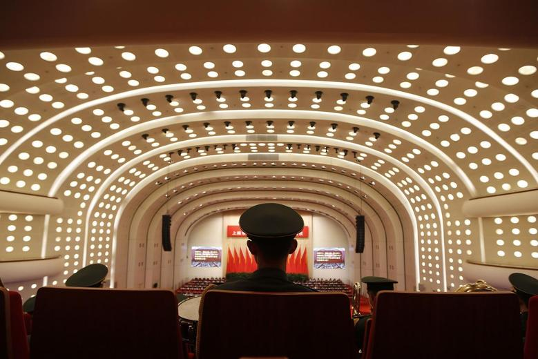 Members of a military band attend a session of the Chinese People's Political Consultative Conference (CPPCC) of the Shanghai Municipal Committee, in Shanghai January 18, 2014. REUTERS/Aly Song