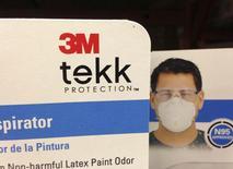 3M Company's respirator masks are displayed in Encinitas, California April 22. 2013. REUTERS/Mike Blake