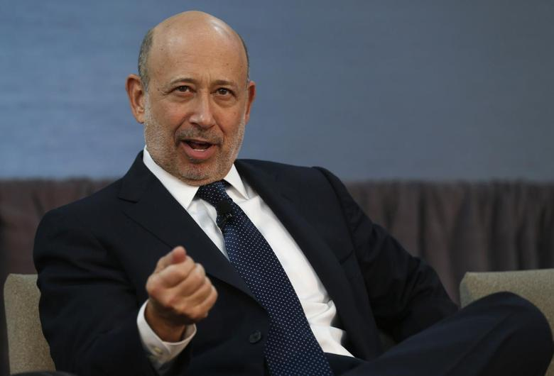 Goldman Sachs CEO Lloyd Blankfein takes part in a panel discussion following a news conference announcing a $20 million partnership to bring Goldman Sachs' 10,000 Small Businesses initiative to the city of Detroit, Michigan November 26, 2013. REUTERS/Rebecca Cook