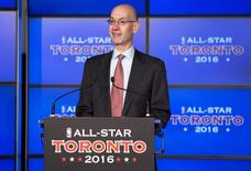 Deputy NBA commissioner Adam Silver speaks during an announcement that the Toronto Raptors will host the 2016 NBA All-Star game in Toronto, September 30, 2013. REUTERS/Mark Blinch