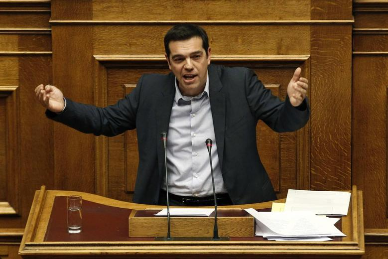 Greek leftist opposition leader Alexis Tsipras delivers a speech during a parliament session where lawmakers vote on the 2014 budget in Athens December 7, 2013. REUTERS/Yorgos Karahalis